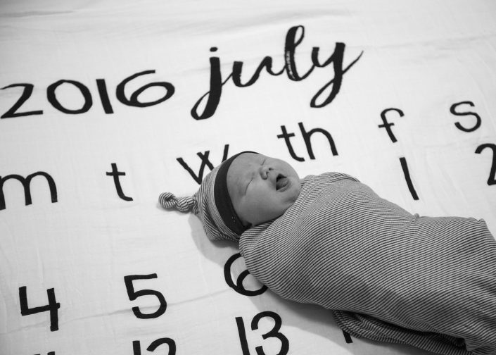 Baby on Calendar