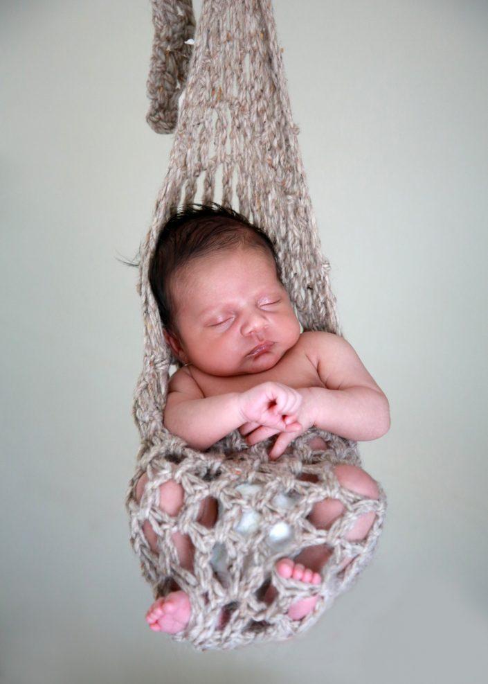 Sleeping Baby in Hammock